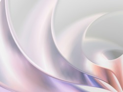 Abstract 3d silver background with soft forms and color gradients