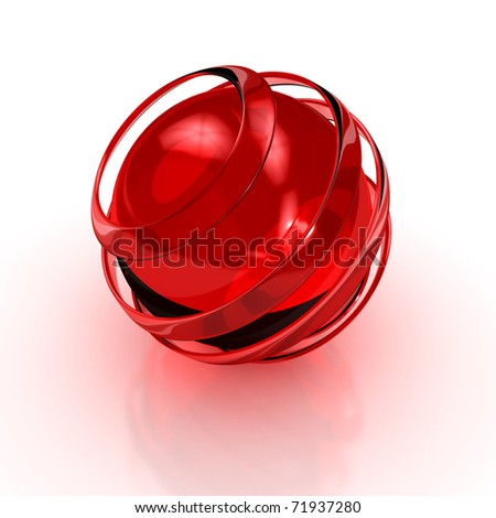 Abstract 3D sphere. 3d rendered image