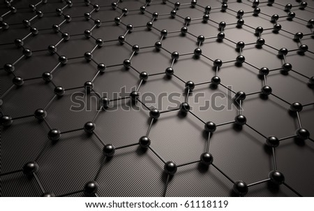 Abstract dark background. Connections of the parts