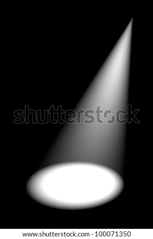 Abstract dark background with bright white stage spotlights