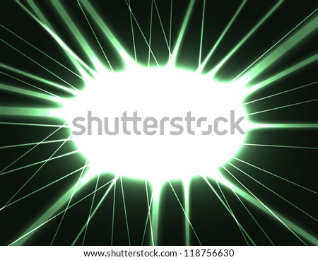 abstract dark background with laser flash, outburst