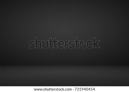 Abstract dark black gradient vignette empty space studio room for present product ad  - Shutterstock ID 731940454