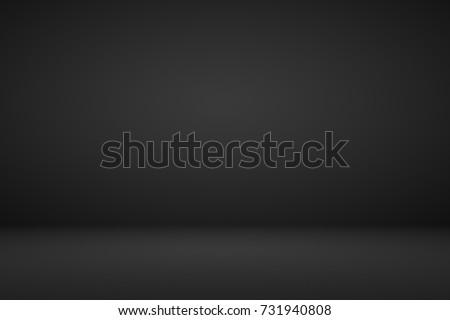 Abstract dark black gradient vignette empty space studio room for present product ad  - Shutterstock ID 731940808