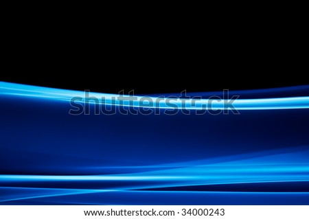 abstract dark blue background on black
