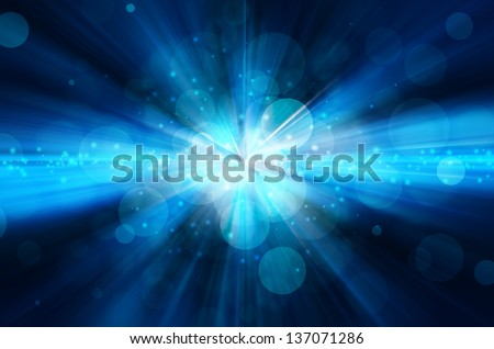 Stock Photo abstract dark blue bokeh background