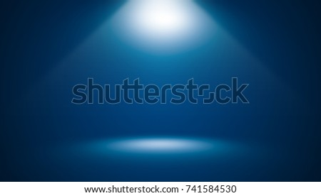 Abstract dark blue template blank space gradient wall background.Dark blue empty room studio gradient used for montage or display your products. #741584530