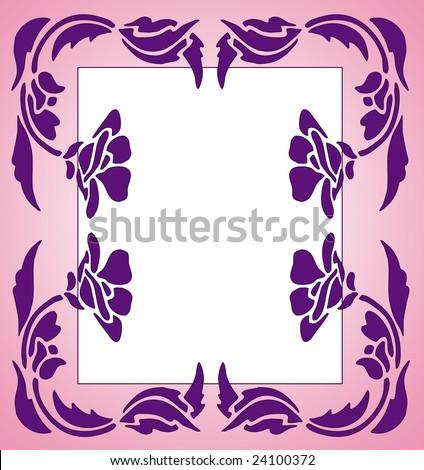 Flower Border Clip Art Silhouette