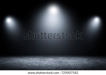 Abstract dark room studio wall background and display your product.Gray empty show product. #729007582