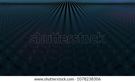 Stock Photo Abstract dark wallpaper of blurred blue dots, 3D render illustration