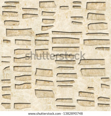 Abstract decorative bricks - Decorative facing wall, Wallpaper texture background - Continuous replication, Fine natural structure - marble surface