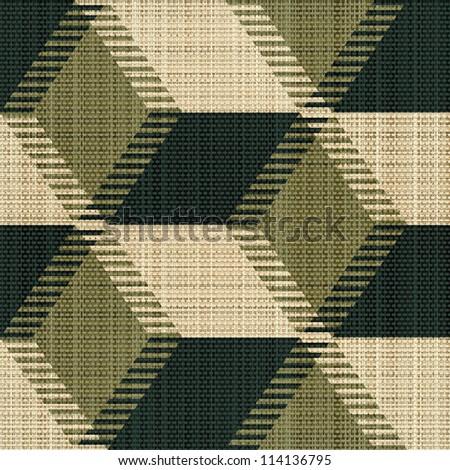 Abstract decorative canvas textured geometric background. Seamless pattern. Illustration. - stock photo