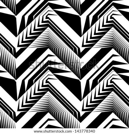 Abstract decorative geometric ears seamless pattern.