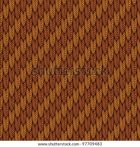 Abstract decorative textured golden fleece weaving fabric background. Seamless pattern. Illustration. Raster version.