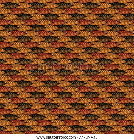 Abstract decorative textured weaving fabric background. Seamless pattern. Illustration. Raster version.