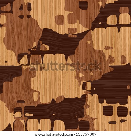 Abstract decorative wooden striped textured parquet mosaic background. Seamless pattern. Illustration.