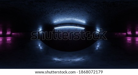 abstract 360 degree concrete wall panorama grunge industrial style hdr vr design 3d render illustration Сток-фото ©