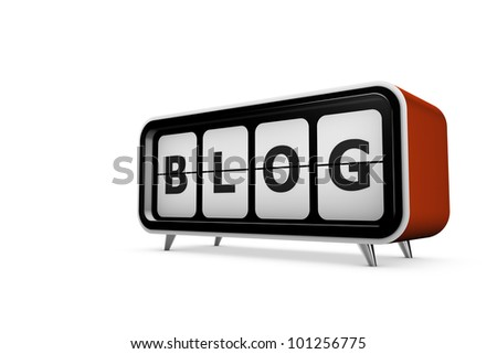 Abstract demonstration of blog - stock photo
