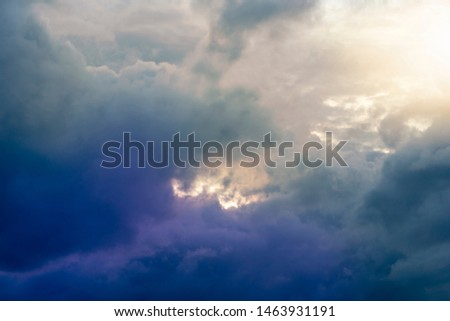 Abstract dense clouds and gloomy skies #1463931191