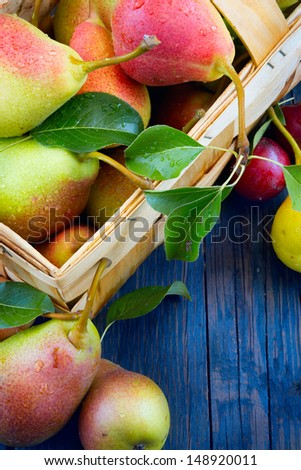 abstract design background  fruits on a wooden background