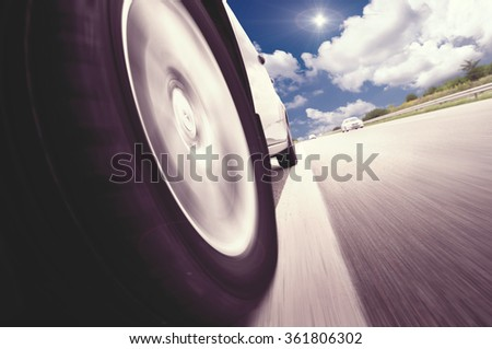 Abstract design background Trucks and transport.Highway and delivering. #361806302