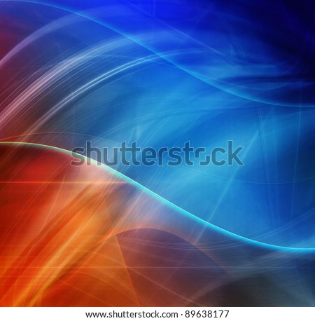 Abstract design, blue and red color, futuristic background
