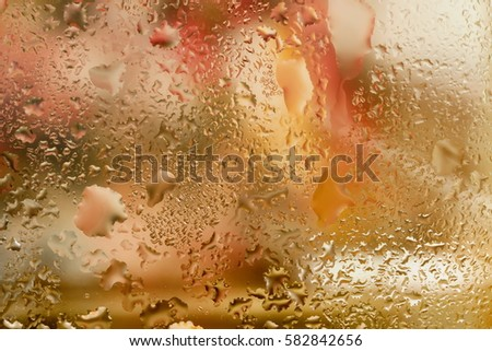 Abstract design element with real light reflection for banner, print, template, web, decoration. Modern background in halftones with raindrops #582842656