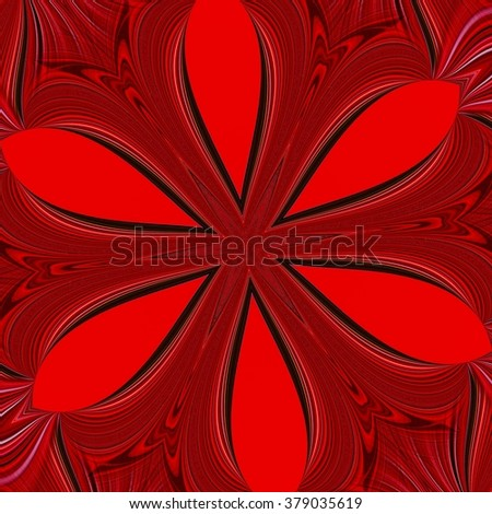 abstract design in red and black