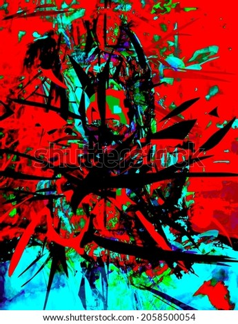 Abstract design in red and blue colors