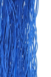 Abstract design Internet network, blue cables