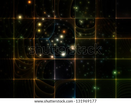 Abstract design made of fractal grid pattern on the subject of science, education and technology