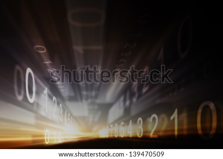 Abstract design made �¢??�¢??of light and the grid elements in the business, science and technology education. #139470509