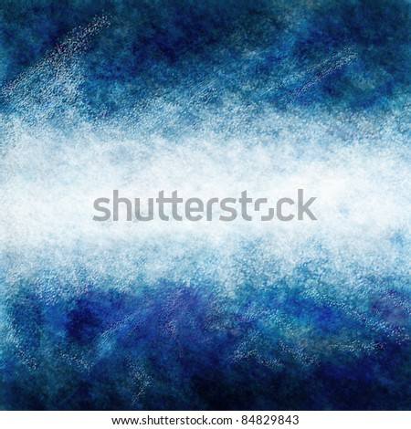 Abstract design of a white stripe on a blue background created in Photoshop