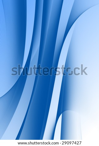 abstract design with blue curves