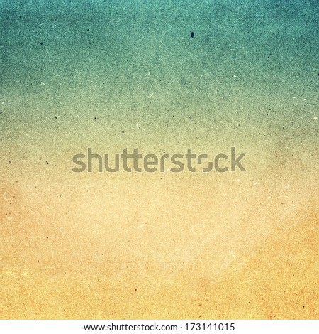 Abstract Designed grunge paper texture. Summer beach recycled paper textured background with film grain. Highly detailed frame.