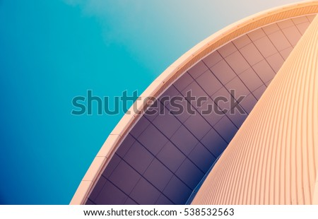 Abstract Detail Of Sleek Modern Contemporary Architecture With Copy Space #538532563