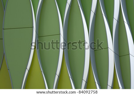 Abstract details of modern architecture in the Netherlands