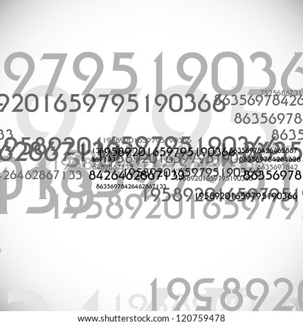 abstract digit background