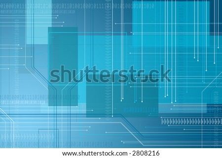 Abstract digital background - computer world