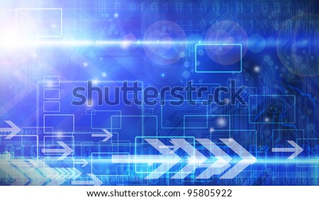 Abstract digital Blue background
