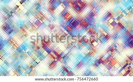 Abstract digital fractal pattern. Horizontal orientation. Grunge abstract texture.