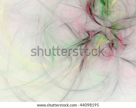 Abstract digital fractal smoke background