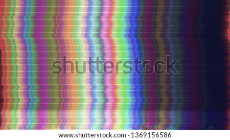 Abstract digital glitch art. Technology error. Video tv signal damage with pixel noise and error interference. Unique design background. Photo film light damage.