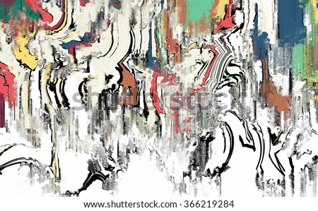 abstract digital painting for background/canvas painting texture/abstract digital painting for background