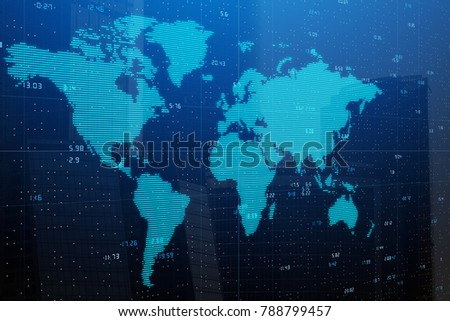 Free photos world map wallpaper avopix abstract digital world map on city background future and geography concept double exposure gumiabroncs Gallery