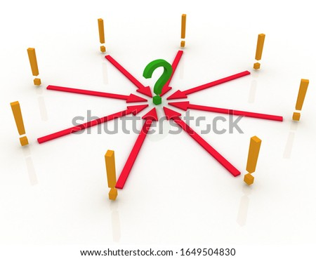 Abstract directions, human choices and risk management theme, original 3d rendering