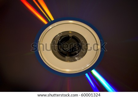 Abstract disc CD composition with vivid colors. Blu Ray