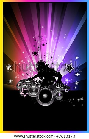 Abstract Discoteque Colorful Background for flyers