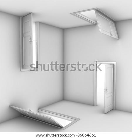 abstract doors