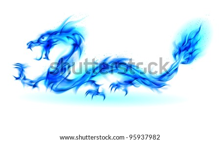 Abstract Dragon. Illustration on white background for design