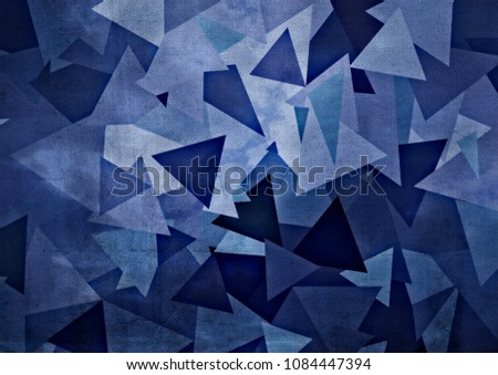 Abstract drawing of geometric shapes #1084447394